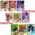 Banpresto One Piece Ichiban Kuji Prize K Strong World A4 file folder set of 9
